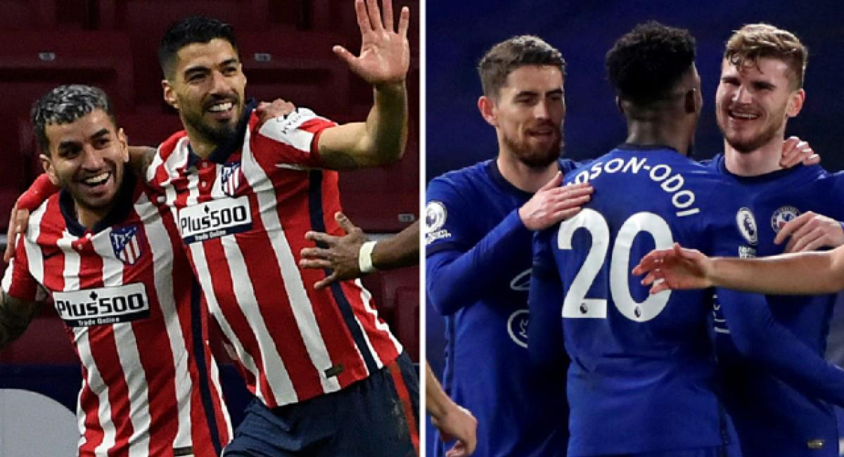 Atlético Madrid se mide ante Chelsea por Champions League. Foto: Twitter Difusión