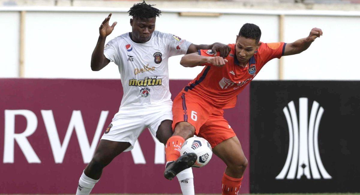 César Vallejo y Caracas empataron por la Copa Libertadores. Foto: EFE