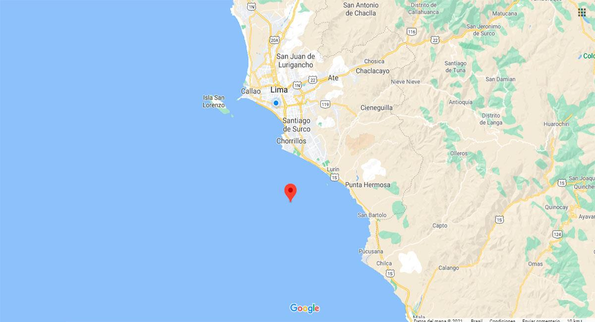 Temblor sacudió Chilca este miércoles por la tarde. Foto: Google Maps