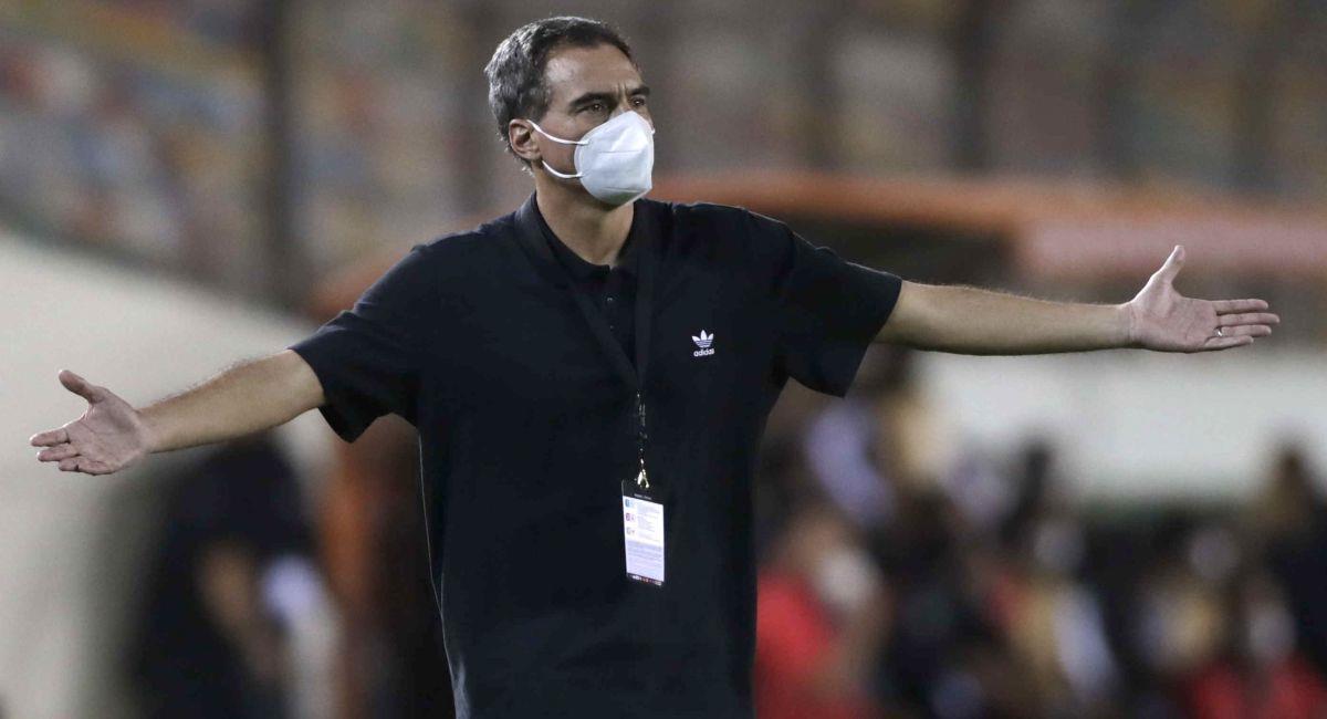 Chemo del Solar se mostró tranquilo pese a empate de César Vallejo. Foto: EFE