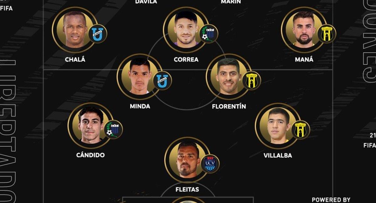 Once ideal de Libertadores. Foto: Twitter Conmebol Libertadores
