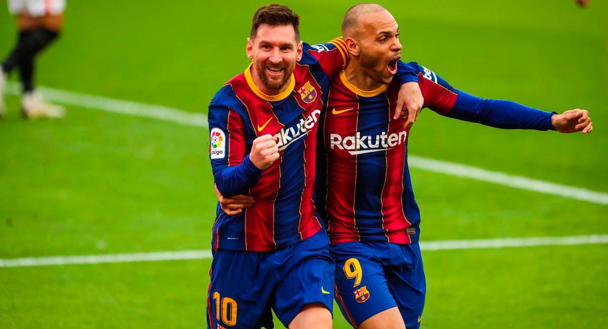 Lionel Messi anotó el 2-0 para Barcelona sobre el final. Foto: Twitter @FCBarcelona_es