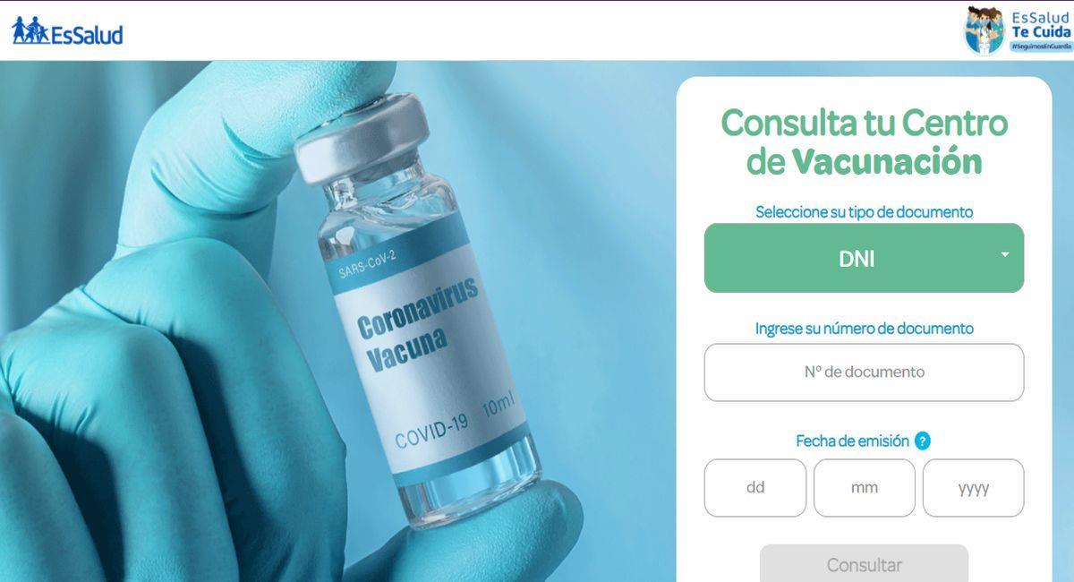 Usuarios habían recibido por redes un enlace para escoger un centro de vacunación. Foto: Captura