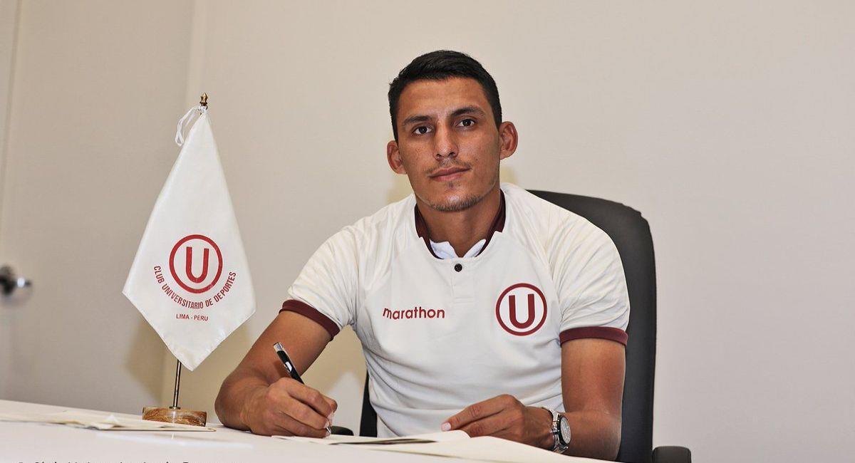 Alex Valera quiere ser goleador en Universitario. Foto: Twitter Club Universitario