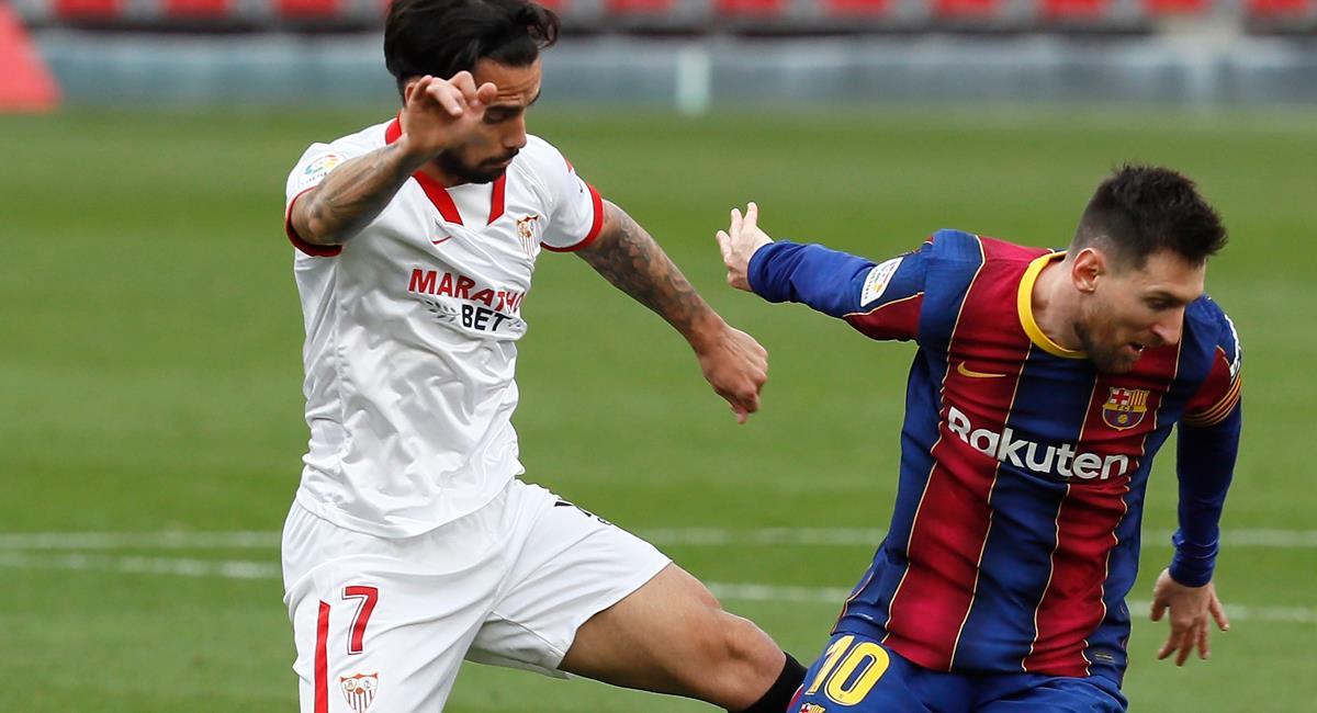Barcelona recibe a Sevilla por la semifinal de vuelta de Copa del Rey. Foto: EFE