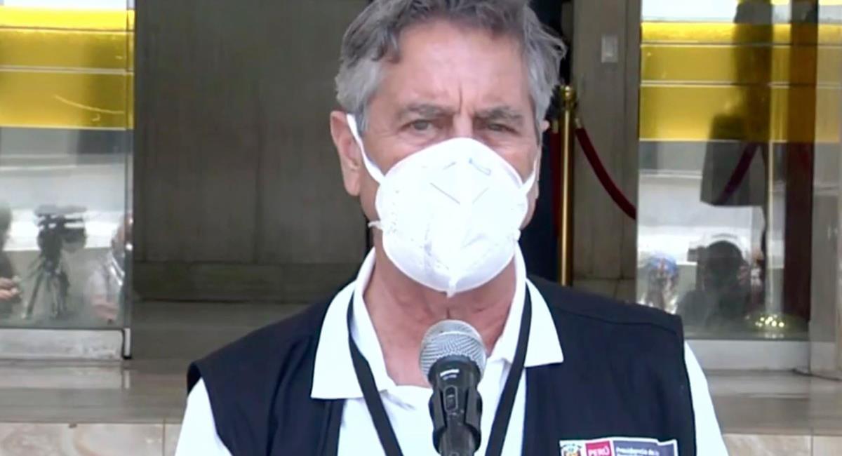Presidente Francisco Sagasti anunció llegada de 50 mil vacunas Pfizer. Foto: Andina