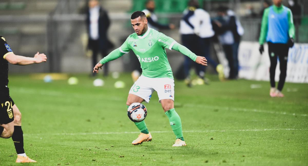 Miguel Trauco ingresó a los 71 minutos. Foto: Prensa Saint-Étienne
