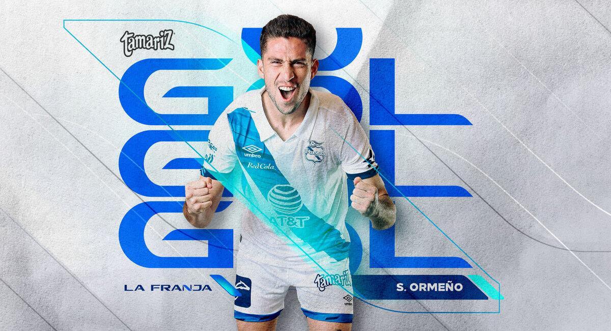 Ormeño no se cansa de marcar en México. Foto: Twitter Puebla