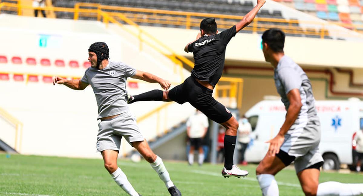 Alex Valera marcó el 2-0 ante San Martín este miércoles. Foto: Twitter @Universitario
