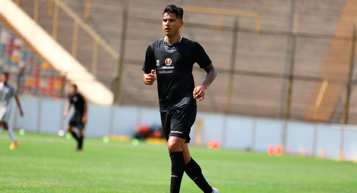Enzo Gutiérrez marcó el 1-0 para Universitario. Foto: Twitter