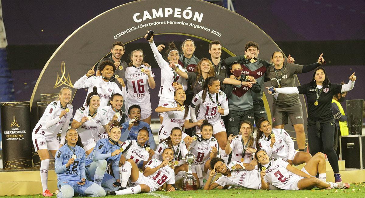 Ferroviaria campeón de la Copa Libertadores Femenina. Foto: Twitter @LibertadoresFEM
