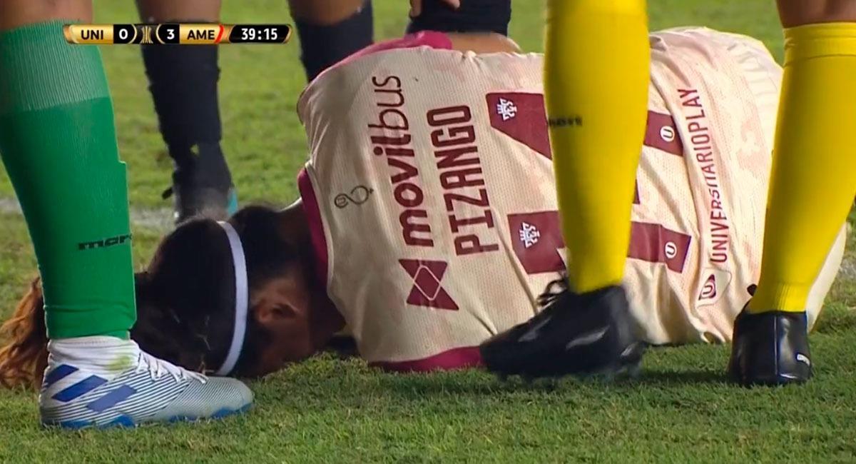 Universitario fue arrollado por América de Cali en la Copa Libertadores Femenina. Foto: Captura