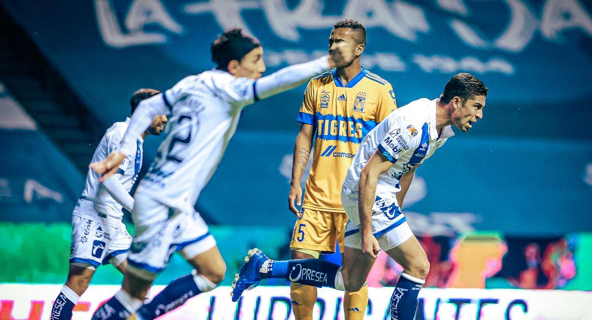 Santiago Ormeño marcó el 1-1 entre Puebla y Tigres. Foto: Twitter @ClubPueblaMX