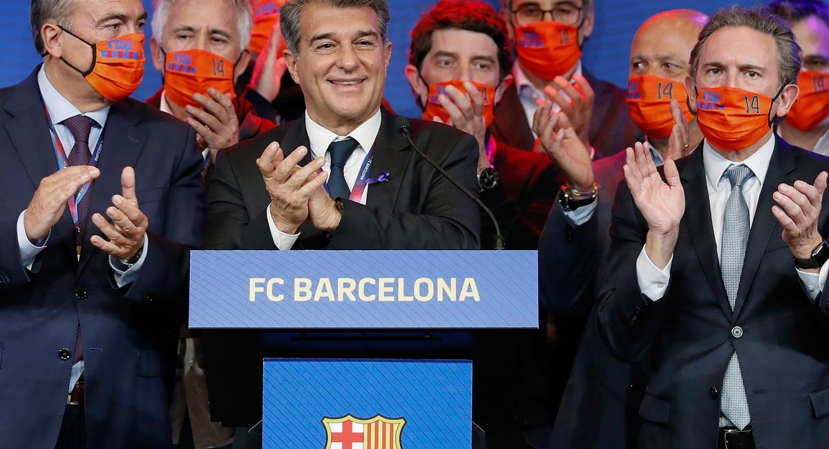 Joan Laporta asume la presidencia de Barcelona. Foto: EFE