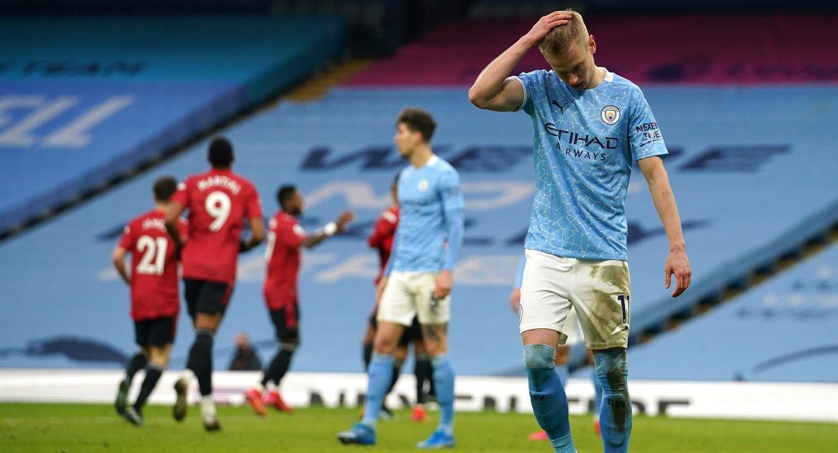 Manchester City fue sorprendido por el Manchester United. Foto: EFE