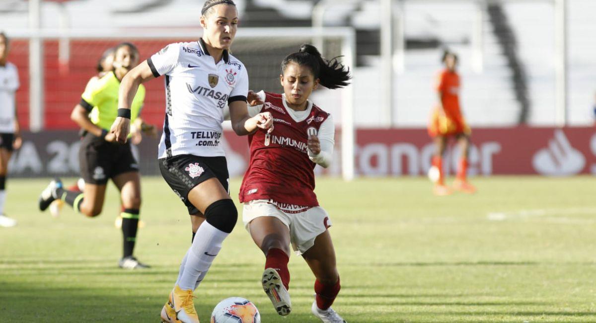 Universitario no fue rival para Corinthians en la Copa Libertadores Femenina. Foto: Twitter Copa Libertadores Femenina