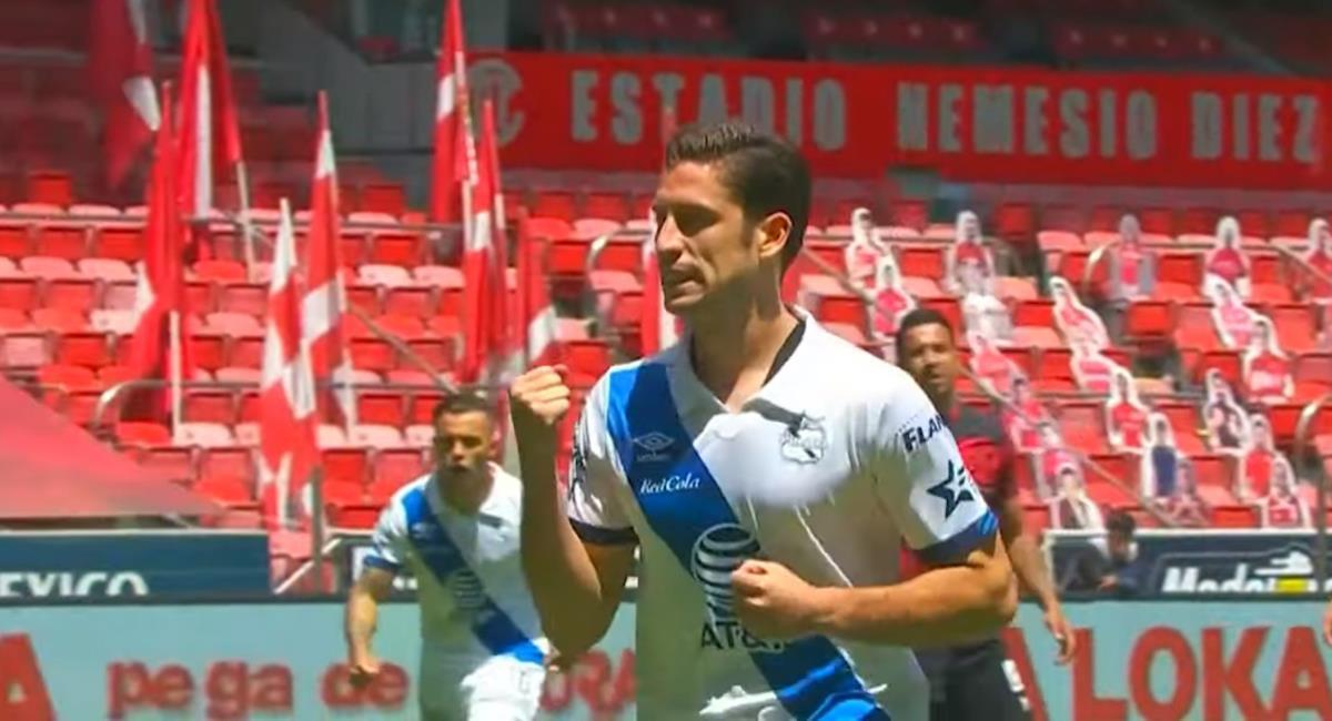Ormeño anotó con Puebla. Foto: Youtube LIGA BBVA MX