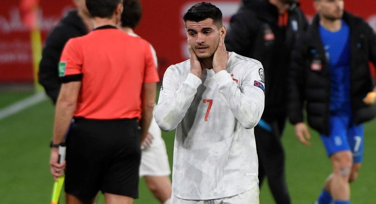 La Selección de España falló en su choque ante Grecia en las eliminatorias europeas. Foto: EFE
