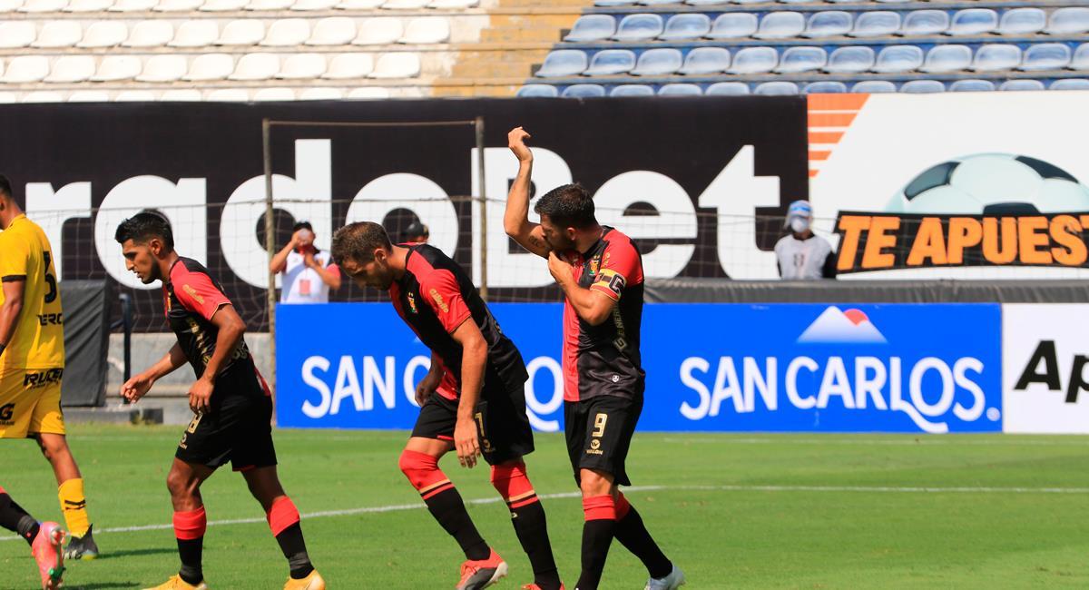 Bernardo Cuesta marcó el 2-0 de Melgar. Foto: Prensa FPF