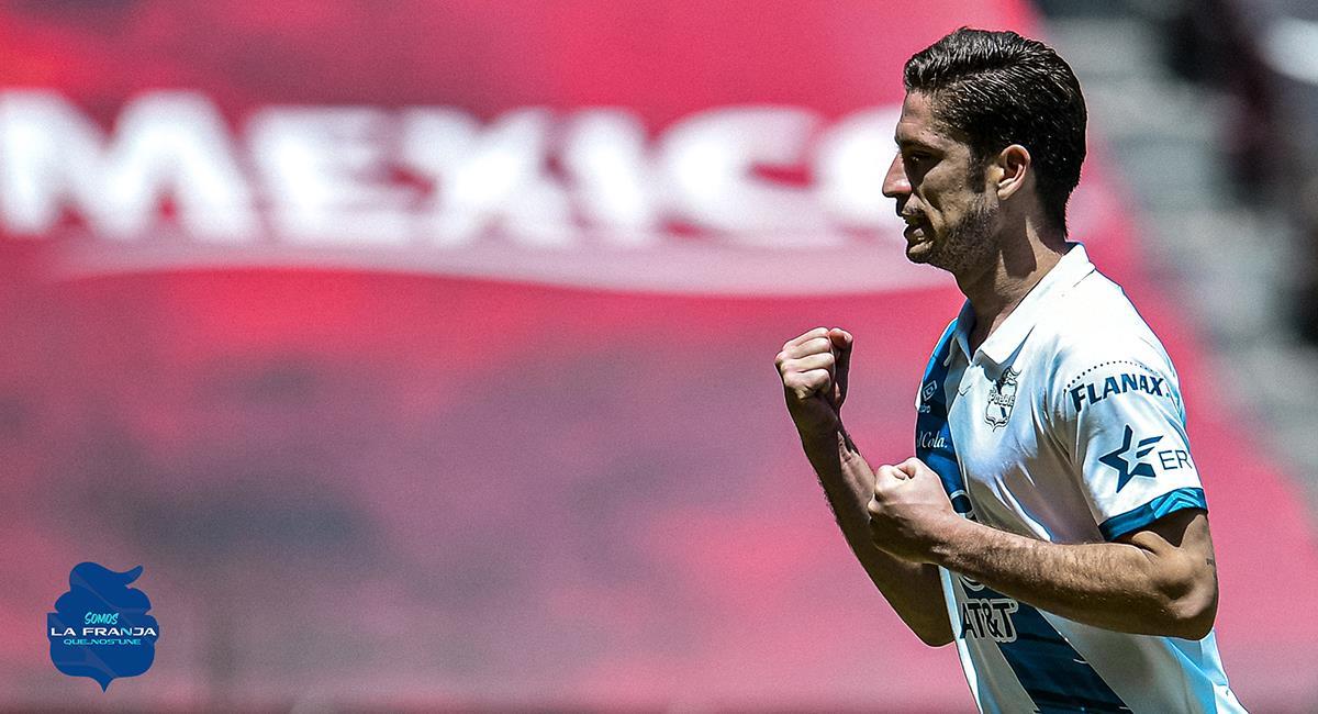 Santiago Ormeño anotó en triunfo de Puebla. Foto: Twitter Puebla