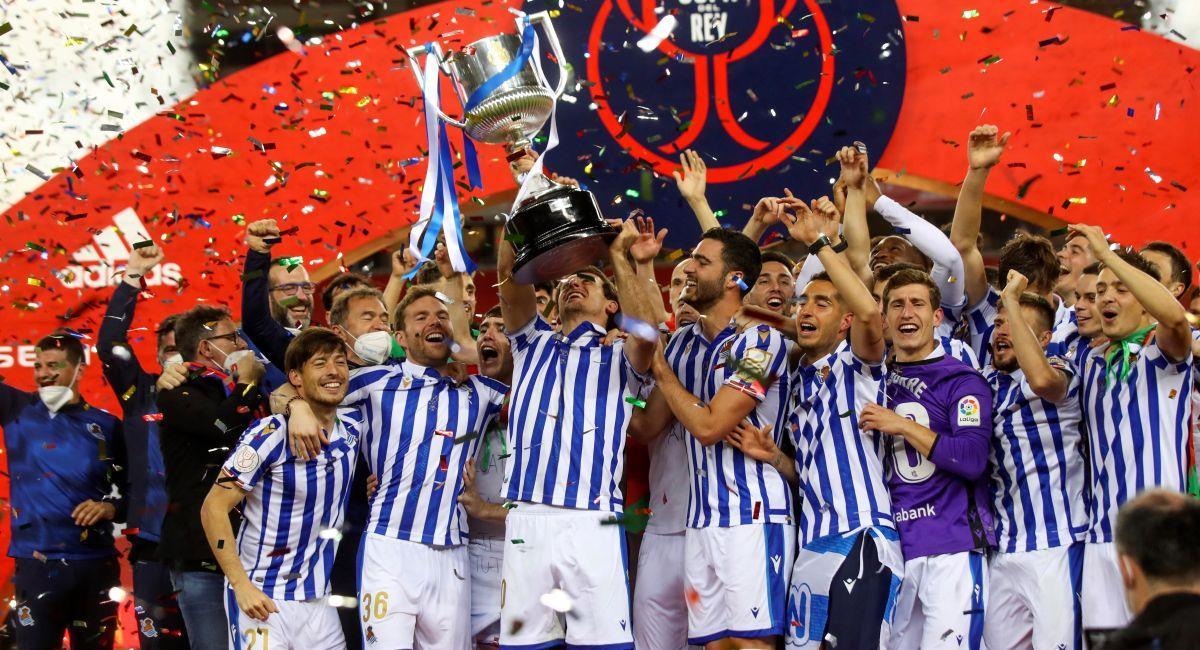 Real Sociedad ganó la Copa del Rey, edición 2020. Foto: EFE
