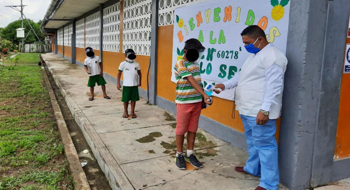 Clases presenciales en las instituciones educativas. Foto: Andina