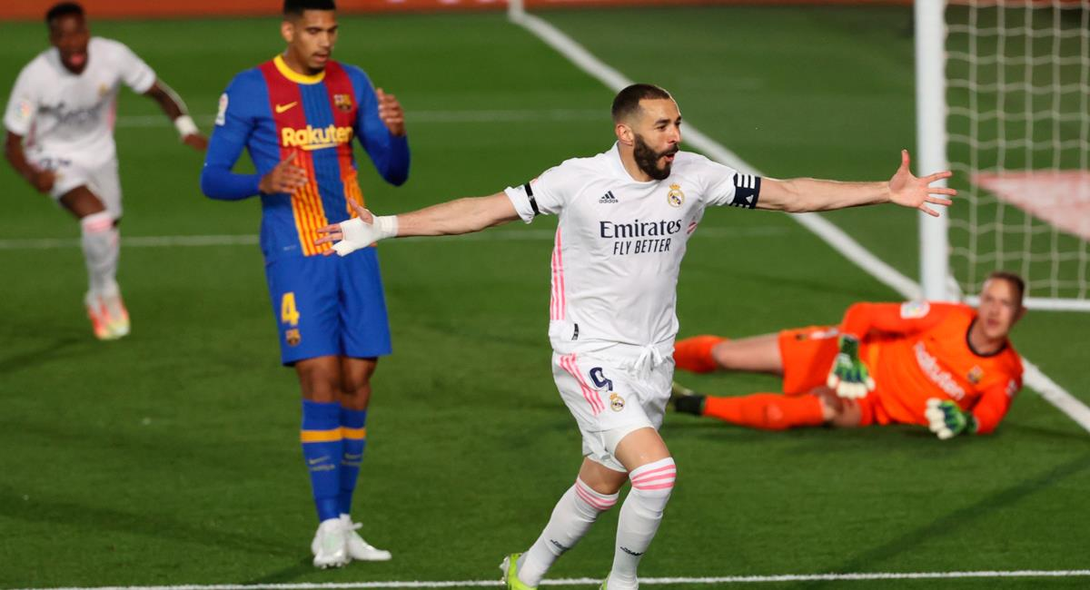 Karim Benzema abrió la cuenta a los 13 minutos. Foto: EFE