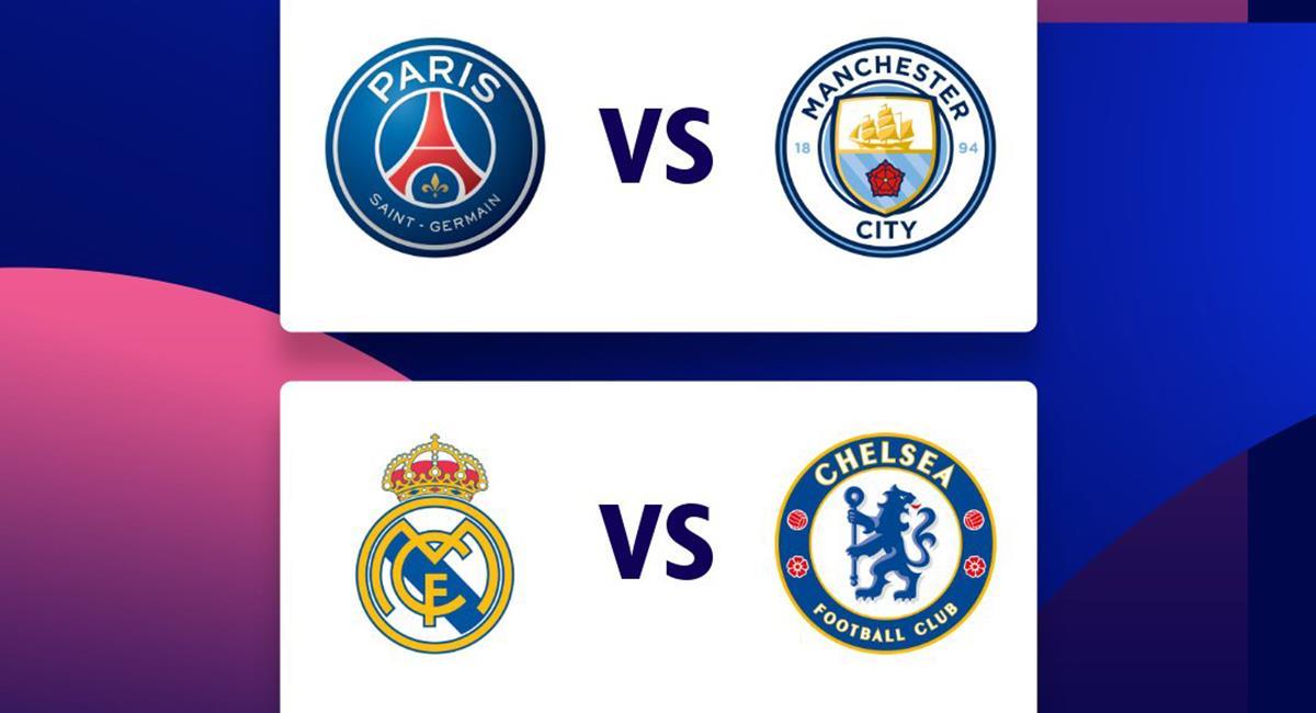 Llaves de las semifinales de Champions League. Foto: Twitter Champions League