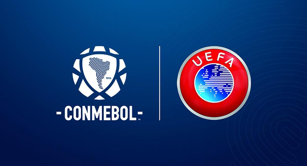 Conmebol y UEFA acuerdan cooperación en materia arbitral. Foto: Twitter Conmebol