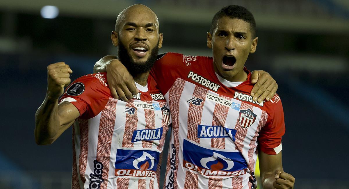 Duelo de colombianos en la Conmebol Libertadores. Foto: Twitter Club Junior FC