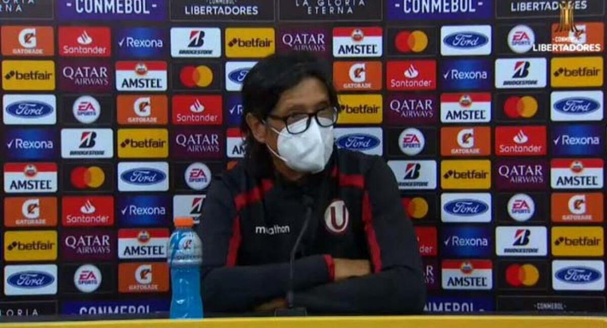Ángel Comizzo dio conferencia de prensa. Foto: Conmebol Libertadores
