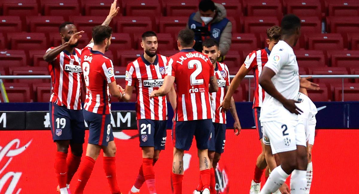 Atlético de Madrid se mantiene en la cima de LaLiga. Foto: EFE