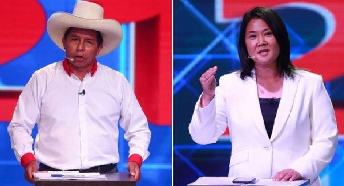Pedro Castillo y Keiko Fujimori se disputan la presidencia del Perú. Foto: Andina