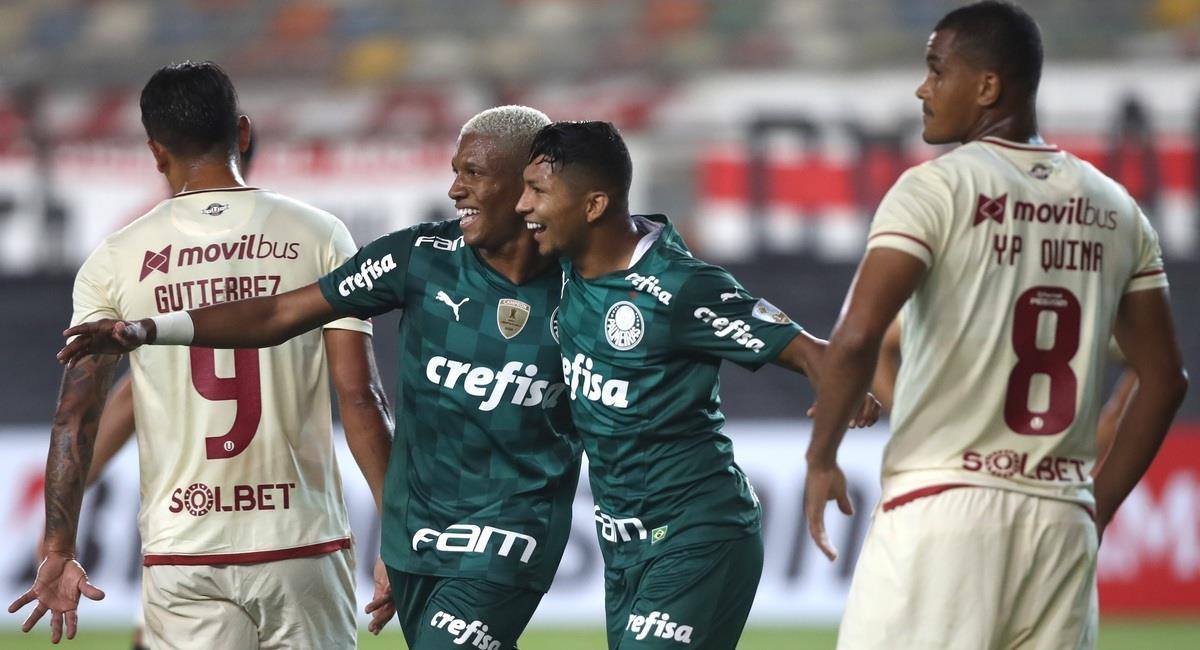 Universitario no pudo en casa ante Palmeiras. Foto: EFE