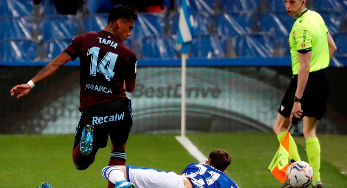 Renato Tapia fue titular los 90 minutos en Celta de Vigo. Foto: EFE