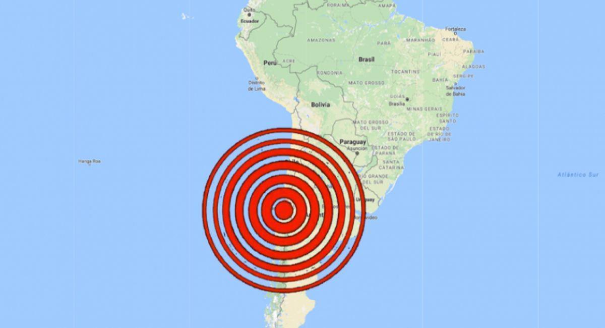 Chile fue sorprendido por un sismo este último miércoles. Foto: Twitter