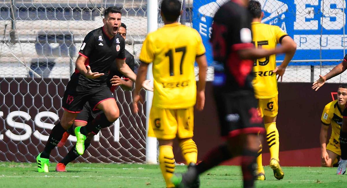 Alexis Blanco marcó el único gol sobre los 29 minutos. Foto: Twitter @LigaFutProf