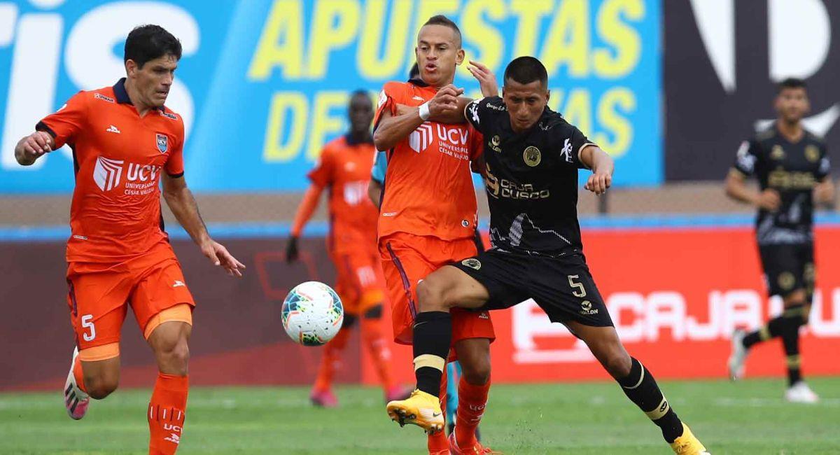 César Vallejo igualó con Cusco FC en la Liga 1. Foto: Twitter Liga Profesional