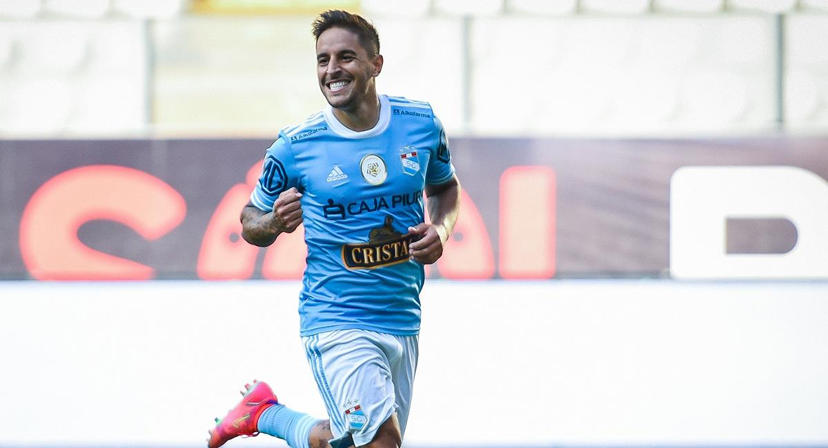 Hohberg celebra doblete en el Nacional. Foto: Twitter Club Sporting Cristal