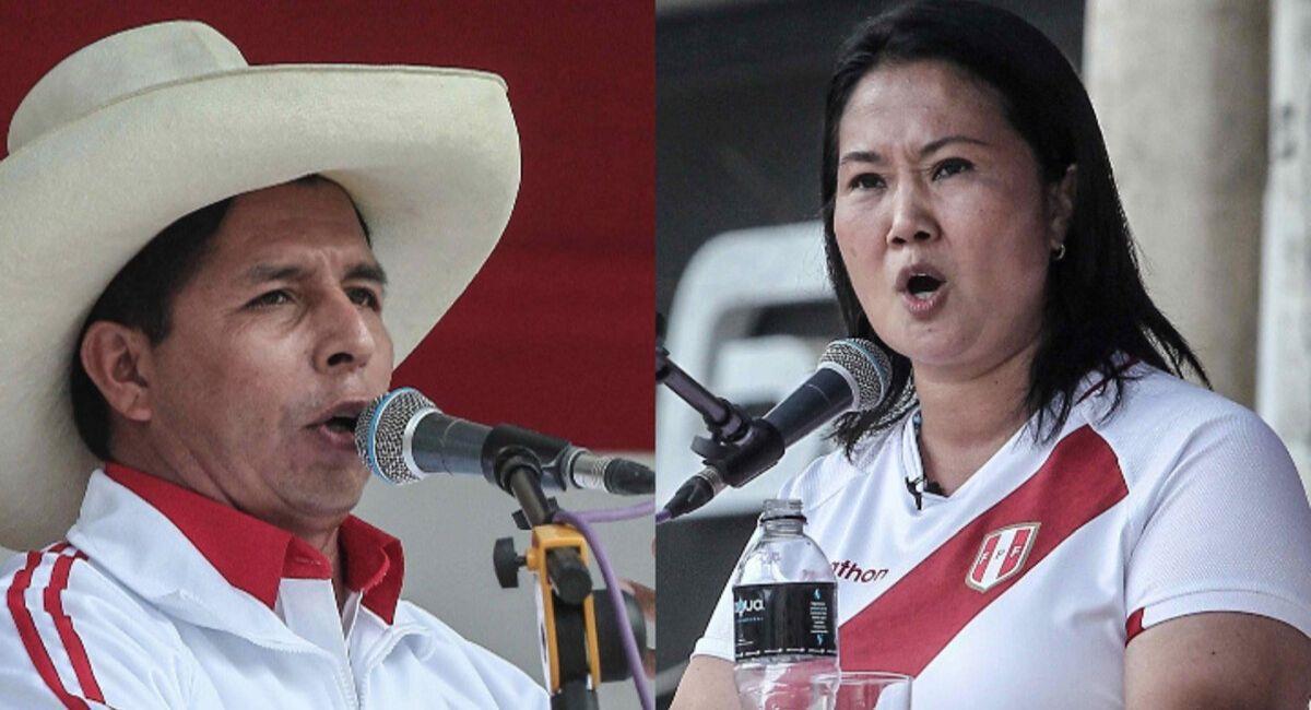 Pedro Castillo y Keiko Fujimori. Foto: Andina
