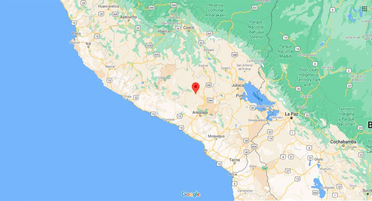 Un temblor se sintió en la región Arequipa. Foto: Google Maps