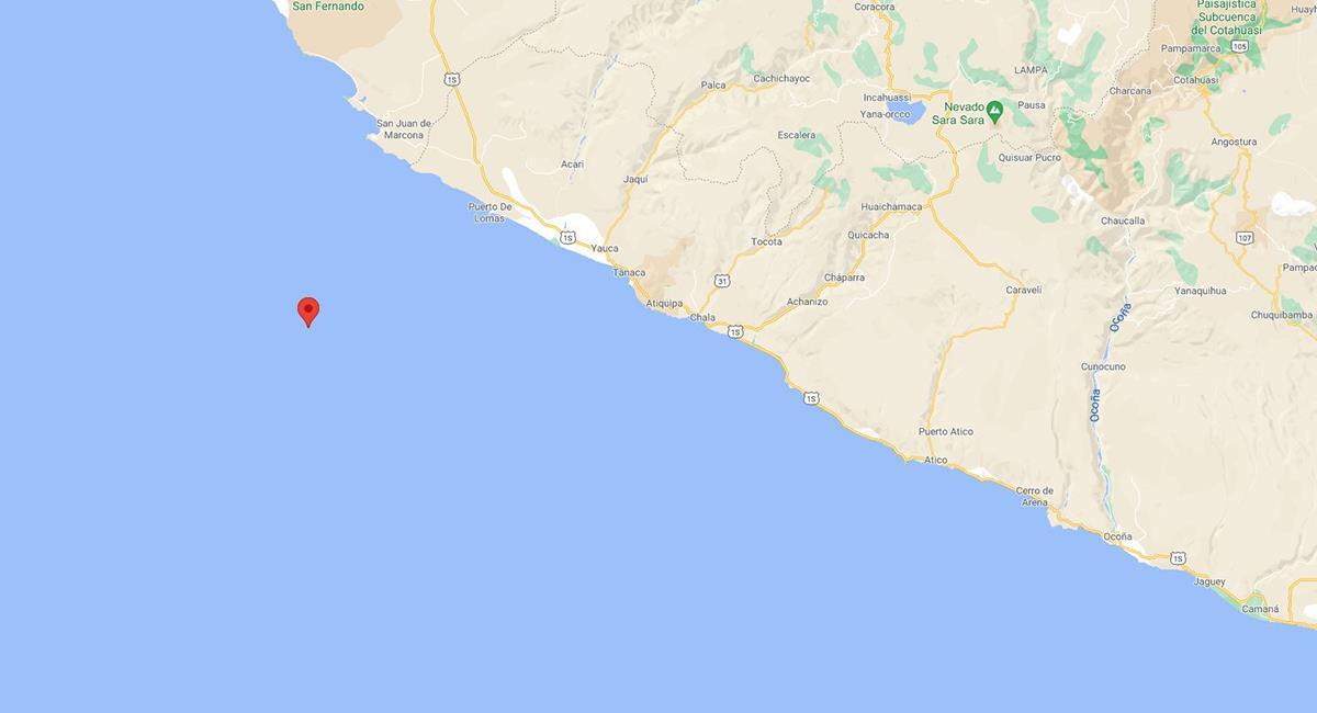 Sismo de 4.0 en Ica. Foto: Google Maps