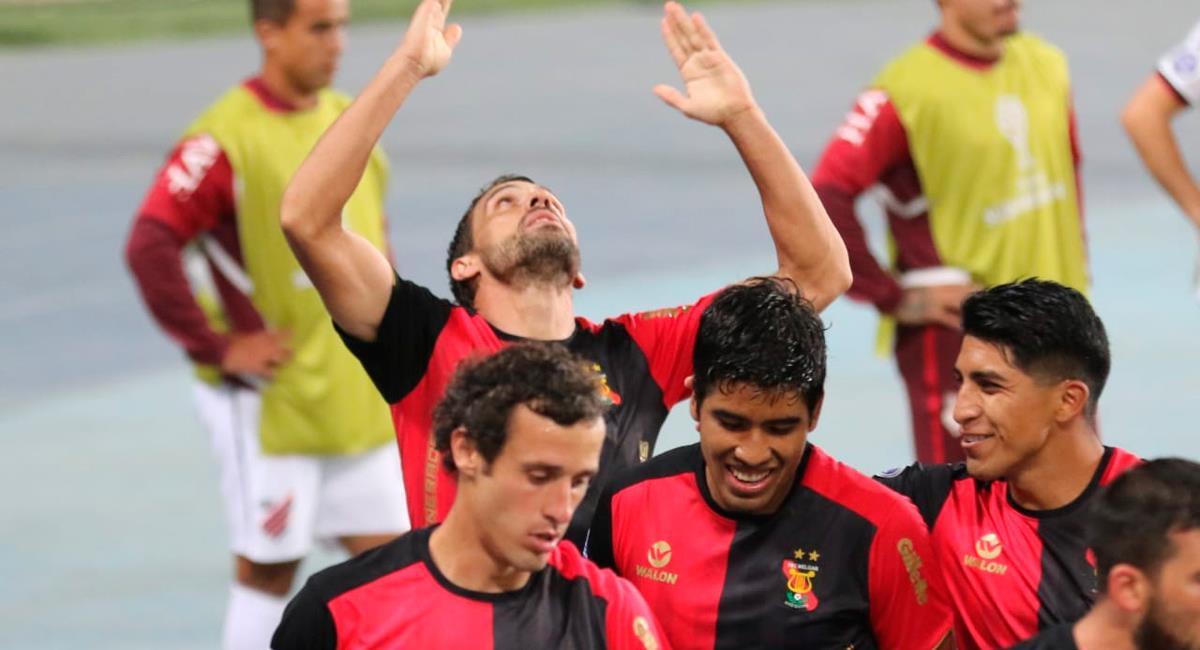 Cristian Bordacahar logró el único tanto del encuentro. Foto: Twitter @MelgarOficial