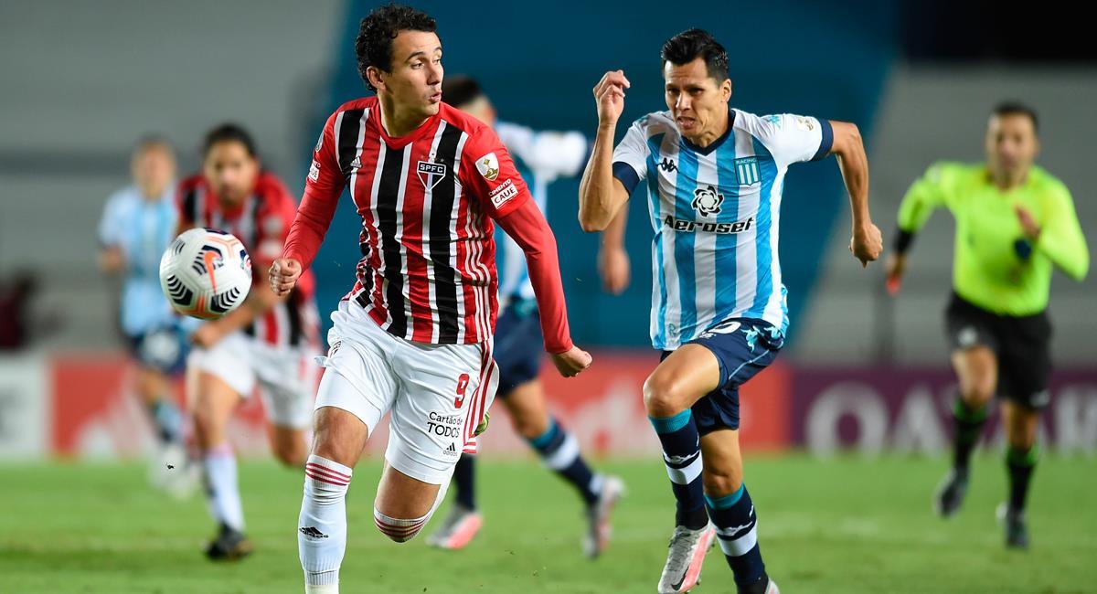 Racing igualó sin goles con Sao Paulo en Avellaneda. Foto: EFE