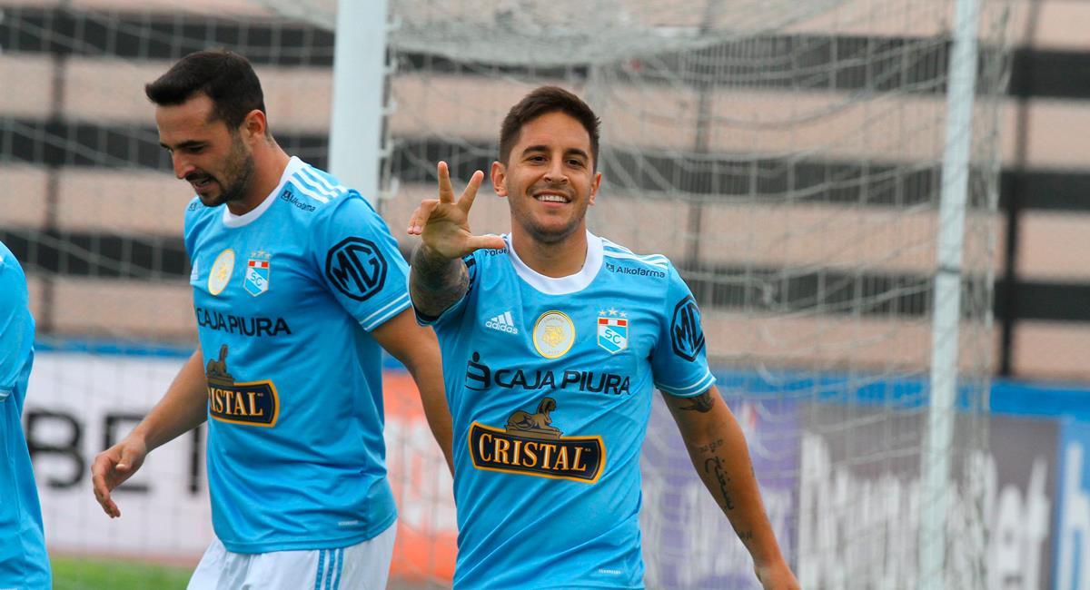 Alejandro Hohberg abrió la cuenta para Sporting Cristal. Foto: Twitter @LigaFutProf