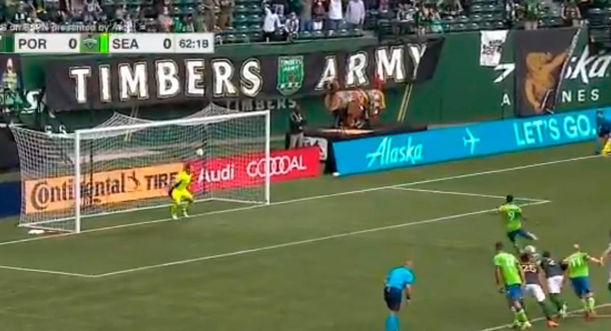 Raúl Ruidíaz marcó de penal a los 63 minutos. Foto: Twitter @SoundersFC