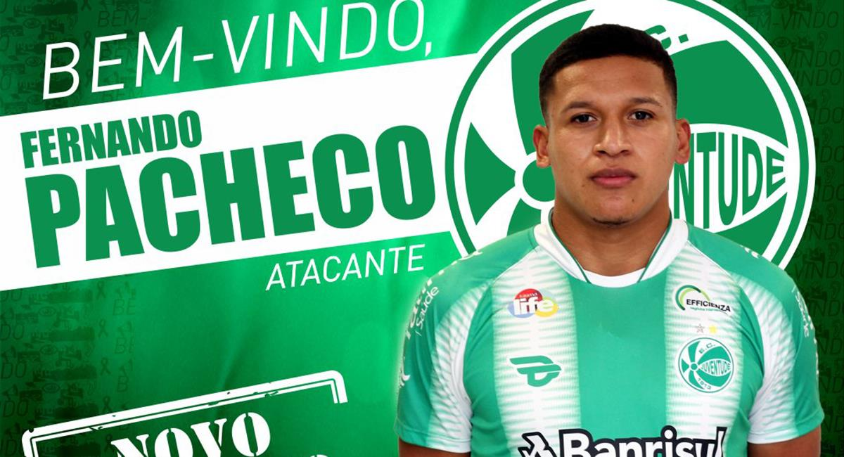 Pacheco es nuevo refuerzo de Juventude. Foto: Twitter Juventude