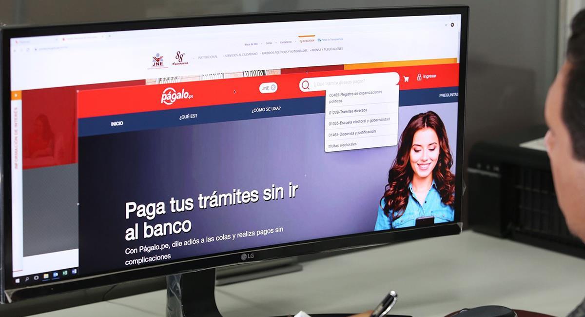 Vía para cancelar la multa electoral. Foto: Andina