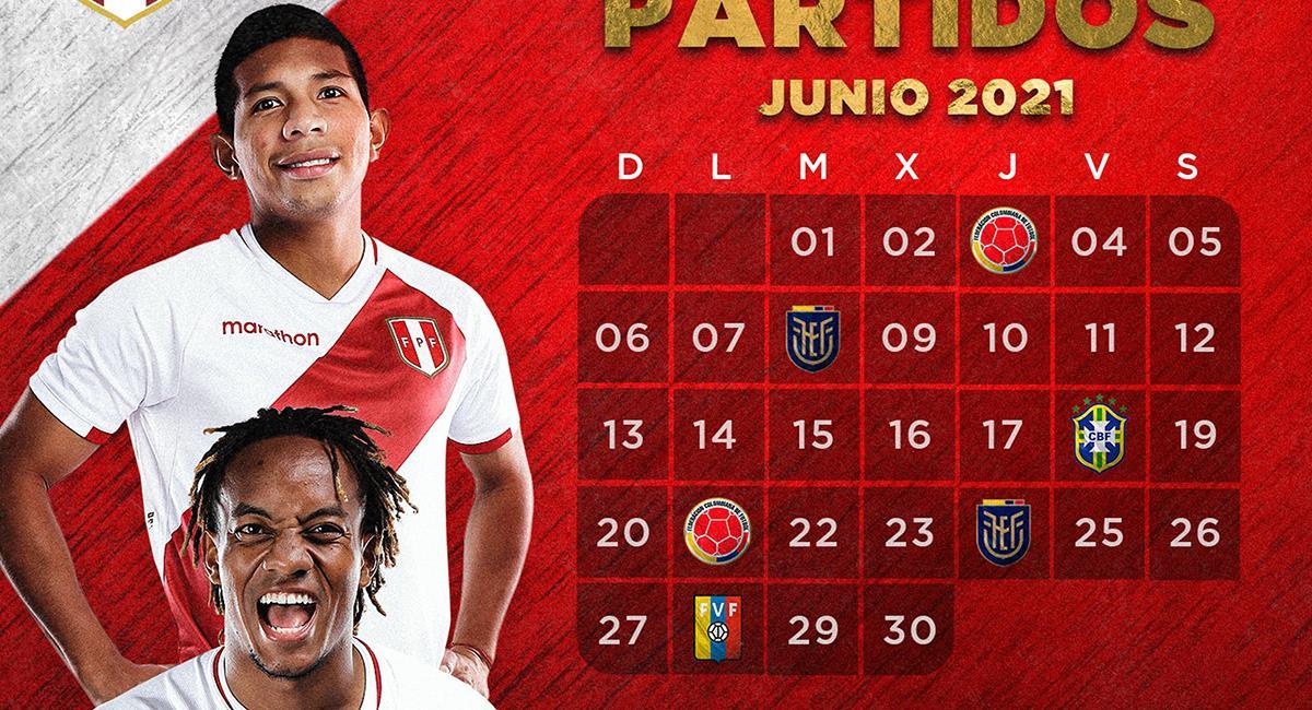 Selección Peruana y su fixture de junio. Foto: Twitter Selección Peruana