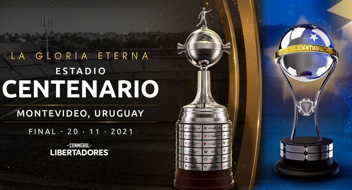 Finales confirmadas de Libertadores y Sudamericana. Foto: Twitter Conmebol Libertadores